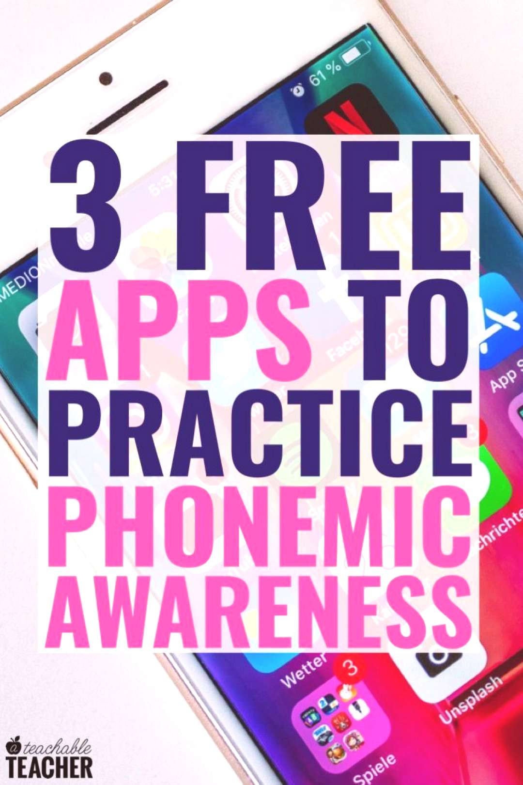 3 Appealing Apps to Teach Phonemic Awareness Skills that are 100% FREE! Teaching phonemic awareness