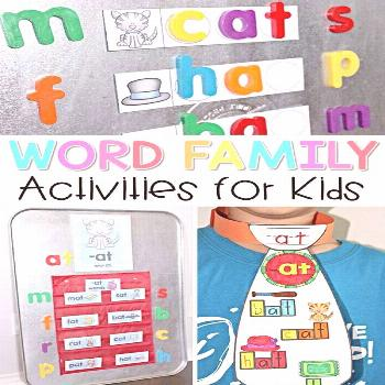 Fun ideas for teaching primary children to read. Teaching word family activities and lessons