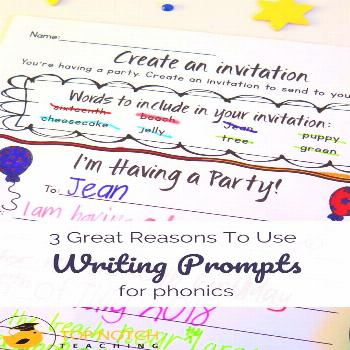 3 Great Reasons To Use Writing Prompts For Phonics - Top Notch Teaching Do you use writing prompts