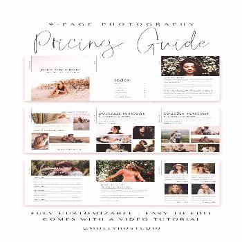 9-Page Photography Guide for Lifestyle & Couples Photographers / Marketing Kit for Photograph... 9-