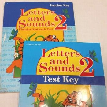 A Beka Letters And Sounds 2 Set of 2 Books Teacher Keys For Seatwork Tests 2nd