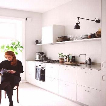 A Swedish Interior Stylist and Photographer's Haven (my scandinavian home) -  Küche  -