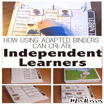 Adapted Binders Make Independent Learners - Keeping Up with Mrs. Harris Adapted Binders Make Indepe