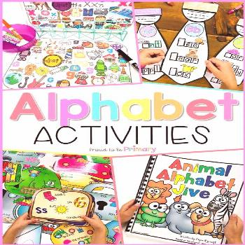 Alphabet Activities - HUGE Bundle of 17 Resources Teach and help kids at home and at school in pres