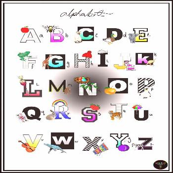 Alphabet poster for both educational and decorative purposes.