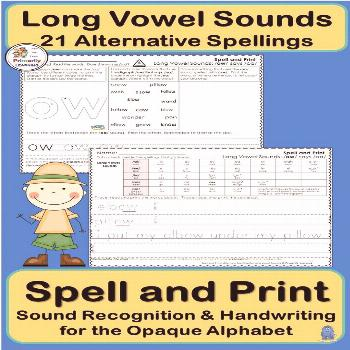 Alternative Spellings & Handwriting for Long Vowel Sounds supports Jolly Phonics Would you like to