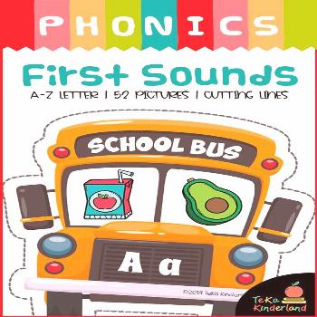 Back To School Activities: Beginning Sounds Match | Initial Sounds Puzzles These First Sounds Match