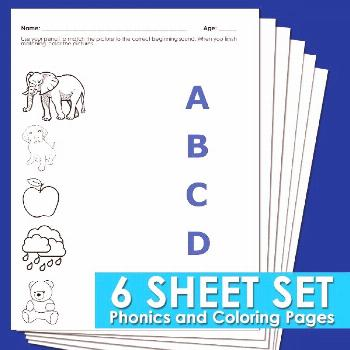 Beginning phonics worksheets for preschool and kindergarten. These printable worksheets are great f