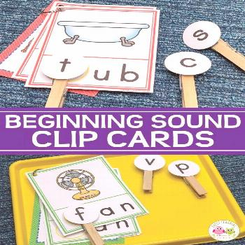 Beginning Sound Clip Cards Use CVC Beginning Sound Clip cards to help your kids hear and see the be