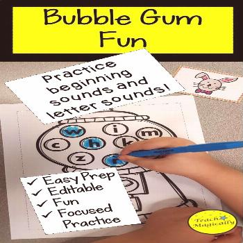 Beginning Sounds and Letter Recognition Bubblegum Editable Game Beginning Sounds and Letter Sound p