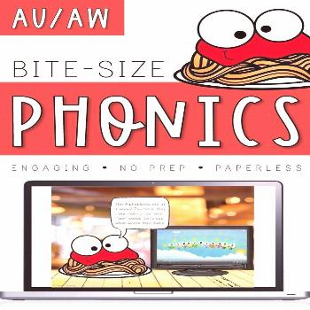 Bite-Size Phonics Lessons - AU & AW Frustrated by a lack of engaging phonics resources? Need someth