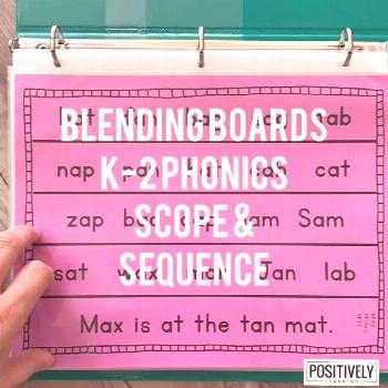 Blending Boards for the entire school year! 200 phonics pages follow a K-2 scope and sequence. Use