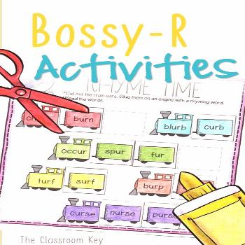 Bossy R Controlled Vowels Activity Worksheets, 1st or 2nd Grade Phonics Bossy R, or R-Controlled Vo