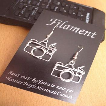 Camera Earrings. Gifts for Photographers. Dangling, Lightweight, Non-tarnish#camera