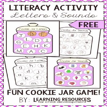 Cookie Jar Letters and Sounds Activity for Letters and Phonics -  Cookie Jar Letters and Sounds lit