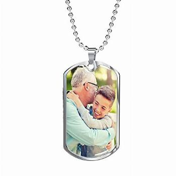 Customized Dog Tag Necklace for men Photo necklace for men
