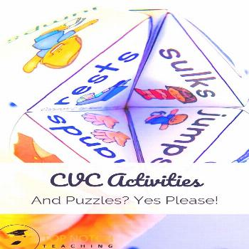 CVC Activities & Puzzles? Yes, Please! It's exciting to see kids start to take off with reading w