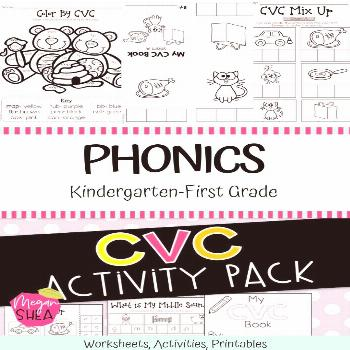CVC Activity Pack for Kindergarten Phonics CVC Activities. Keep your students engaged in these fun