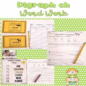 Digraph ch Word Work These hands-on and engaging digraph ch word work activities will help students