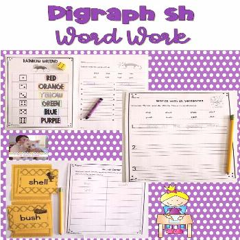 Digraph sh Word Work These hands-on and engaging digraph sh word work activities will help students