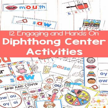 Diphthongs Center Activities Looking for diphthongs centers for your classroom? Here is everything