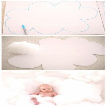 DIY Clouds! Perfect for an adorable photo shoot or party prop!