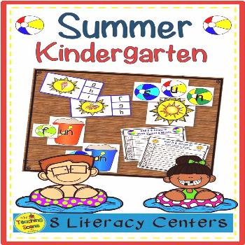 Eight Summer Themed Kindergarten Literacy Phonics Centers Do you need some summer themed literacy c
