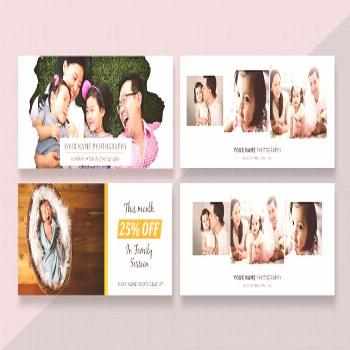 Facebook cover template banner for photographers ,