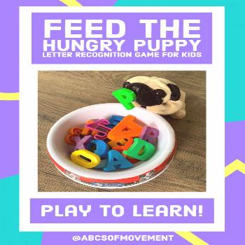 Feed the Hungry Puppy Game by ABC's of Movement and Music with Laurie  Laurie's puppy loves to move