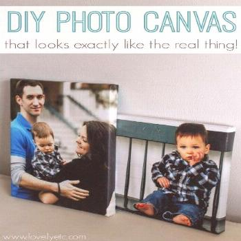Finally a tutorial for making your own photo canvases that actually look just like the real thing!