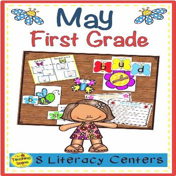 First Grade Literacy Centers: May Do you need some May literacy centers for your First Graders?  Th