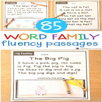 Fluency Passages As kids learn letters, sounds, phonics patterns, and sight words, they really star
