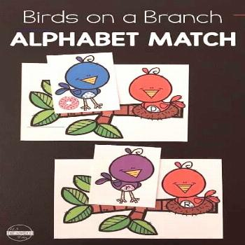 FREE Bird on a Branch ABC Games - Kids will have fun practicing upper and lower case letters, diffe
