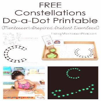 FREE Constellations Do-a-Dot Printable (Montessori-Inspired Instant Download) This free constellati