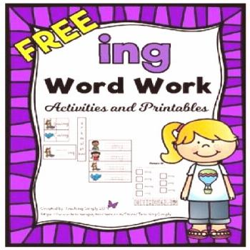 FREE -ing Word Work Printables and Activities Download this freebie to introduce and practice the s