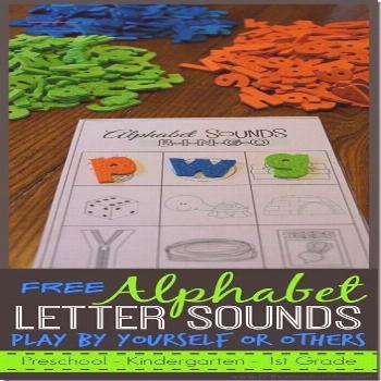 FREE Letter Sounds alphabet game that you can play by yourself or with others; preschool, kindergar