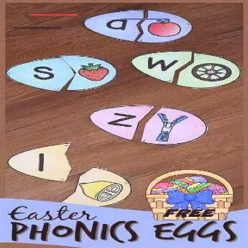 FREE Phonics Easter Eggs - this fun Easter activity for kids is a fun way to practice alphabet lett