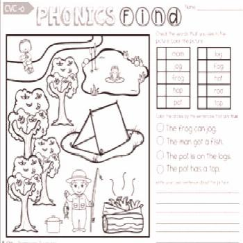 Free Phonics Find Reading Activities -
