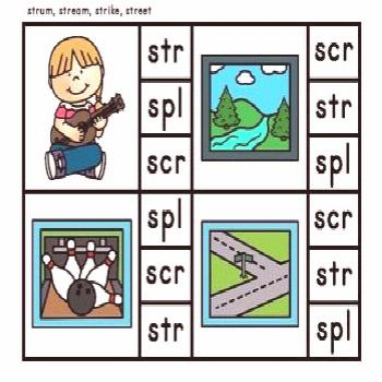 FREE Phonics Initial Three Letter Blends Clip Cards FREE Phonics Initial Three Letter Blends Clip C
