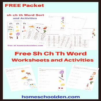 Free Sh Ch Th Word Worksheets and Activities Free Sh Ch Th Word Worksheets and Activities  This fre
