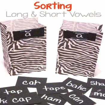 Fun and Easy Vowel Sorting Activity for Long and Short Vowels Learning vowel sounds is fun with thi