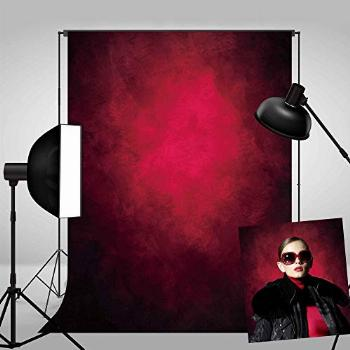 Haboke 5X7ft Durable Soft Fabric Abstract Red Portrait