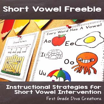 Highlight on Short Vowel Free Resource Join my e-mail list to get this free phonics resource. It in