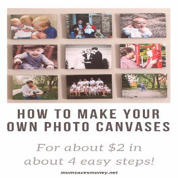 How to make DIY photo canvas prints for around $2 each. You will be amazed how easy it is to create