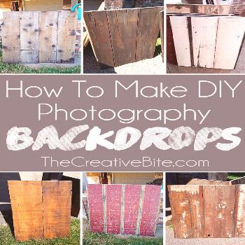 How to Make DIY Wooden Photography Backdrops