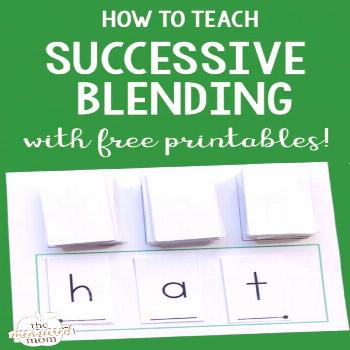 How to teach blending sounds - The Measured Mom If you're looking for blending sounds activities, t