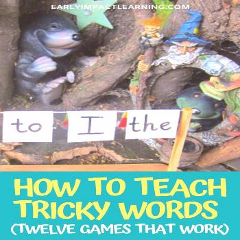 How To Teach 'Tricky' Words? Twelve Games That Work For Teaching Phonics Many of us often find