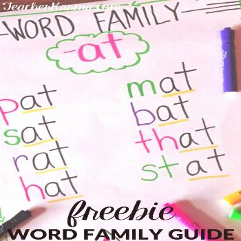 How to Teach Word Families: 4 SUPER SIMPLE STEPS to SUCCESS — Teacher KARMA FREE Word Family Guid