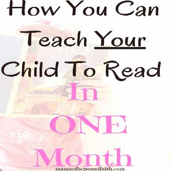How to teach your kid to read in one month This is the curriculum how I thought my 4-year-old and h