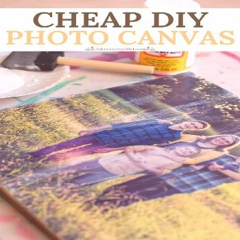How to transfer family pictures and travel photographs to a DIY photo canvas, using Mod Podge and a